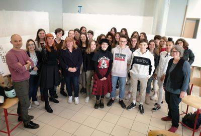 Birgit Weyhe à la rencontre des jurés du lycée Mistral d'Avignon