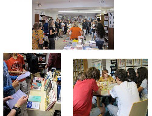 Lancement du Prix au lycée Les Iscles (Manosque) - par Florie Erzilbengoa (Médiathèque d'Herbès)