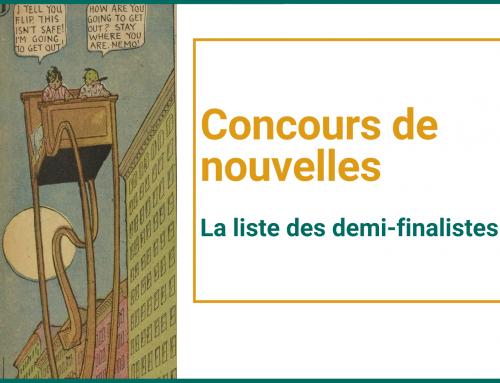 Concours d'écriture 2021: les demi-finalistes!